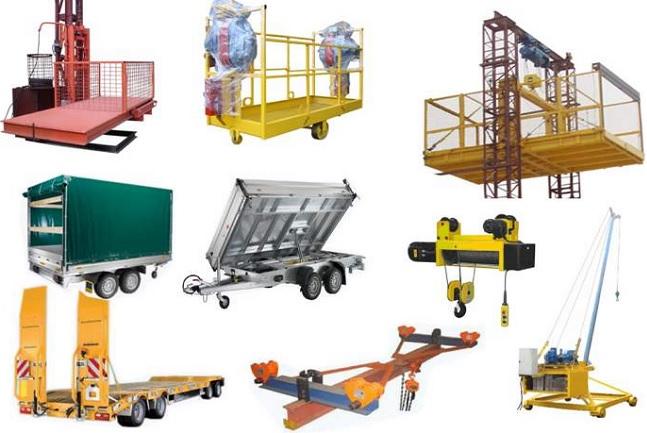 различные виды подъёмного оборудования